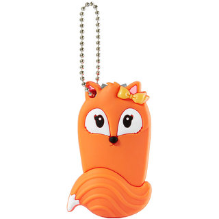 Fox Nail clipper with silicone covered. Orange