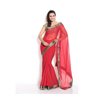 Florence Red Chiffon Saree (FL-2160-SEP)