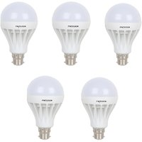 Frazzer 12 W White Led Bulb (Set Of 5)