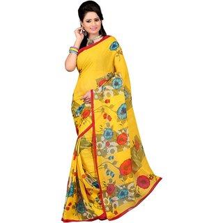 Casa Joya Multicolor Brocade Printed Saree With Blouse