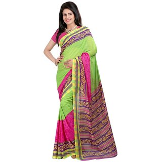 Multicolor Brocade Printed Saree With Blouse