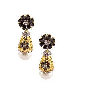 Hooped pearl earrings
