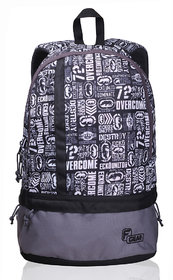 F Gear Gray Polyester Casual Backpack