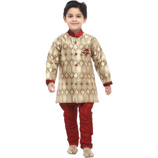 Pagli boys brocade semi indowestern for 9 to 10 years