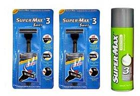 SuperMax Swift Razor annd Menthol Foam set(Set of 3)