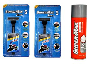 SuperMax Swift Razor annd Classic Foam set(Set of 3)