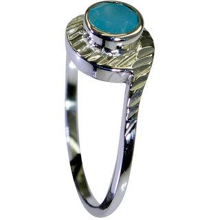 Riyo Aqua Chalcedony Silver Lady Jewelry Big Silver Ring Sz 8 Srach8-4023