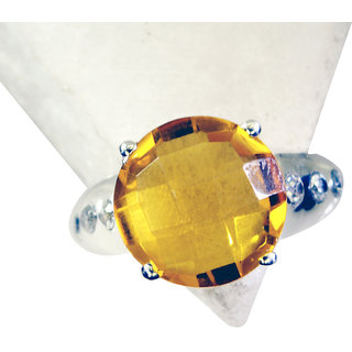 Riyo Citrine Silver Jewellery For Babies Silver Ring Sets Sz 7 Srcit7-14045