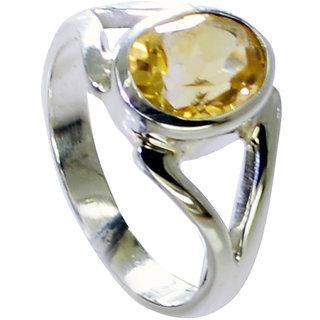 Riyo Citrine Silver Jewellery Shops Vintage Silver Ring Sz 7 Srcit7-14067