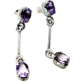 Riyo Amethyst Funky Silver Jewellery Uk Indian L 1.2in Seame-2052