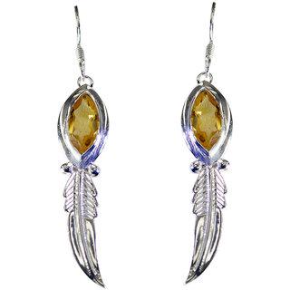 Riyo Citrine Silver Jewellery Sale Valentine Earring L 1in Secit-14035