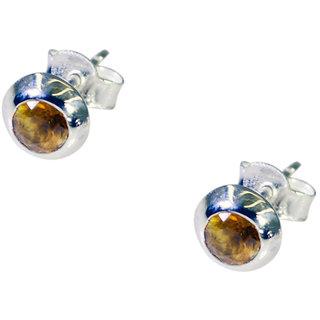 Riyo Citrine Silver Jewellery Shops Vintage Earring L 0.3in Secit-14039