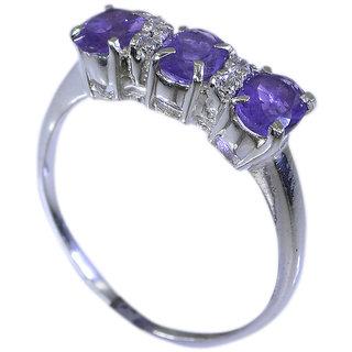 Riyo Amethyst Silver Stone Jewelry Silver Eternity Ring Sz 6.5 Srame6.5-2032