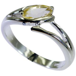 Riyo Yellow Citrine 925 Solid Sterling Silver Masculine Ring Srcit80-14089