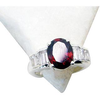 Riyo Garnet  Silver Jewellery Friendship Ring Sz 6 Srgar6-261