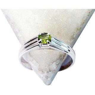 Riyo Peridot Silver Jewelry Findings Friendship Ring Sz 7 Srper7-58028