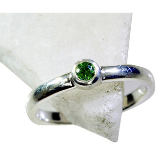 Riyo Peridot Silver Jewelry For Women Beautiful Ring Sz 7 Srper7-58031