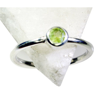 Riyo Peridot Silver Jewelry Indian Cameo Ring Sz 8 Srper8-58039
