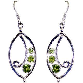 Riyo Peridot Quality Silver Jewelry Silver Earring L 1.3in Seper-58053
