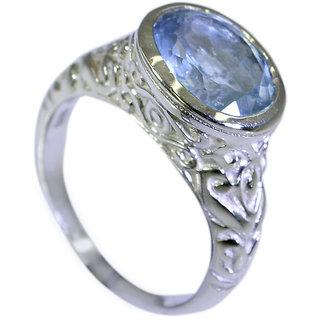 Riyo Blue Topaz Hammered Silver Silver Star Ring Sz 5.5 Srbto5.5-10006