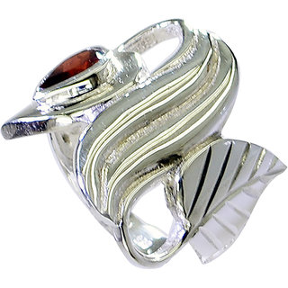 Riyo Garnet Jewelry Silver 925 Wide Silver Band Ring Sz 6 Srgar6-26236