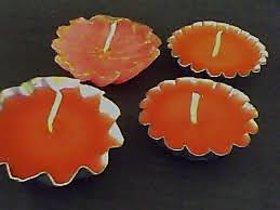 Shakti Wax Floting Candels Orange