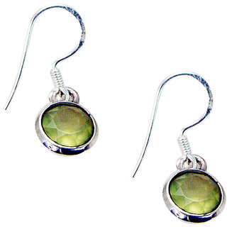 Riyo Prehnite Silver Artisan Jewelry Mother Earring L 1in Sepre-60005