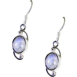 Riyo Rainbow  Silver Costume Jewelry Love Earring L 1.2in Sermo-64019