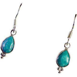 Riyo Turquoise Silver Gem Jewellery Dangling Earring L 1.5in Setur-82052