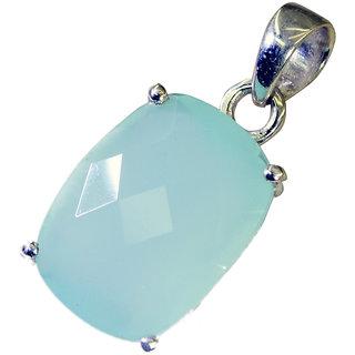 Riyo Aqua Chalcedony Silver Jewelry Supply Organic Pendants L 1in Spach-4001