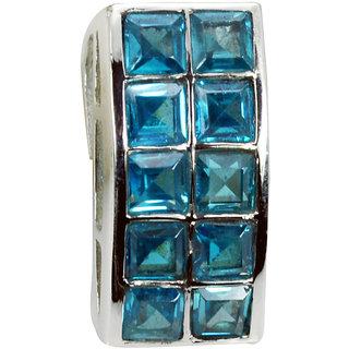 Riyo Blue Topaz Silver Stamped Jewelry Zodiac Pendants L 1in Spbto-10003