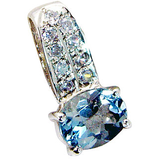 Riyo Blue Topaz Solid Silver Jewelry Cluster Pendants L 1in Spbto-10024
