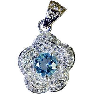 Riyo Blue Topaz Stamped Silver Jewelry Pendant Stud L 1in Spbto-10028