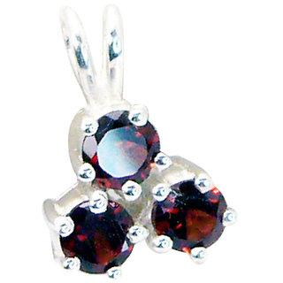 Riyo Garnet Fake Silver Jewelry Snake Pendant L 0.5in Spgar-26025