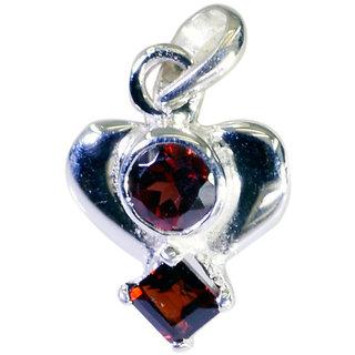 Riyo Garnet Girls Silver Jewellery Sun And Moon Pendants L 0.7in Spgar-26045