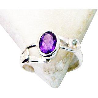 Riyo Amethyst Western Silver Jewelry Thick Silver Ring Sz 6 Srame6-2076