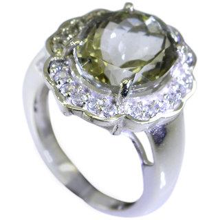 Riyo Green Amethyst Semi Precious Stones Jaipur Sz 6 Srgam6-28007