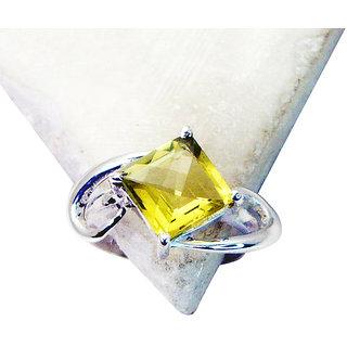 Riyo Lemon Quartz Silver Costume Jewellery Birthstones Ring Sz 7 Srlqu7-46002