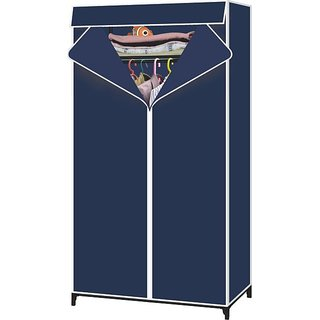 Single Door Foldable Storage Wardrobe Cupboard Almirah-II