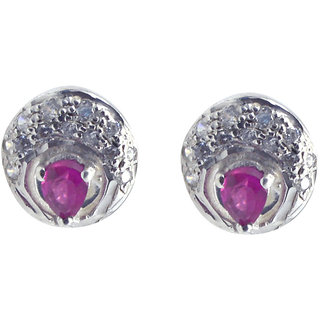Riyo   Cz 925 Solid Sterling Silver Decorative Earring L 0.5in Semucz-116021
