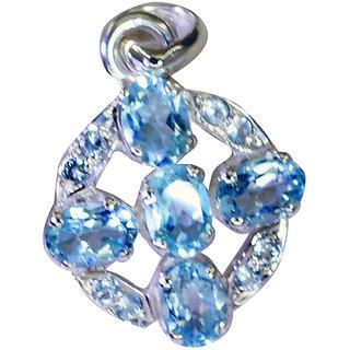 Riyo Blue Topaz Vintage Silver Jewellery Silver Gemstone Pendant L 1in Spbto-10048