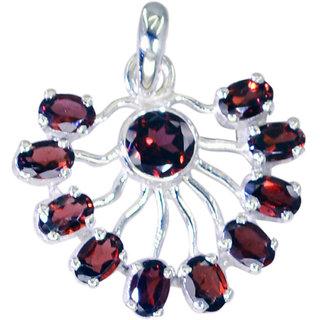 Riyo Garnet Initial Silver Jewelry Elephant Pendant L 1in Spgar-26077
