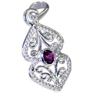 Riyo Garnet Old Silver Jewelry Silver Love Pendant L 1.5in Spgar-26100