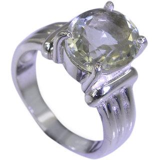 Riyo Green Amethyst Silver Jewelry Earrings Mourning Ring Sz 7 Srgam7-28028