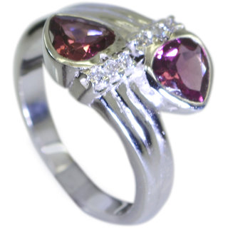 Riyo Garnet Unusual Silver Jewelry Silver Wrap Ring Sz 7 Srgar7-26055