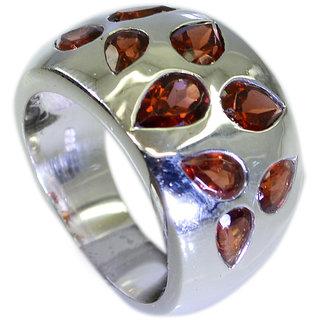 Riyo Garnet Vintage Silver Jewellery Thick Silver Ring Sz 7 Srgar7-26059