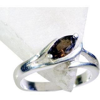 Riyo Smoky Quartz Silver Stamped Jewelry Eternity Ring Sz 6 Srsqu6-76002
