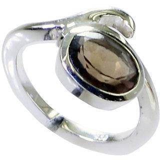 Riyo Smoky Quartz Simple Silver Jewelry Design Your Own Silver Ring Sz 6 Srsqu6-76031