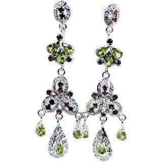 af6615f18 Buy Riyo Gemstone 925 Solid Sterling Silver Fashion Earring L 3in  Semul-52012 Online - Get 75% Off