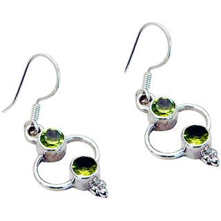 Riyo Peridot Modern Silver Jewelry Evening Wear Earring L 1.5in Seper-58023